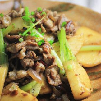 豚肉とかぶの生姜炒め