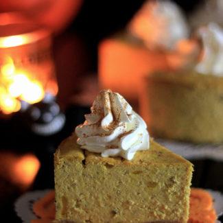 ハロウィン かぼちゃチーズケーキ(砂糖・小麦粉不使用)