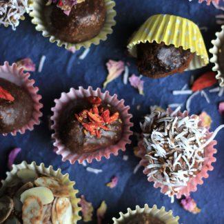 バレンタインにナッツ&チョコのブリスボール