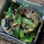 蓮根と小松菜の塩ダレ炒め