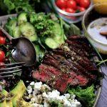 ステーキのギリシャサラダ