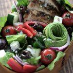 グリルチキンのギリシャサラダ弁当