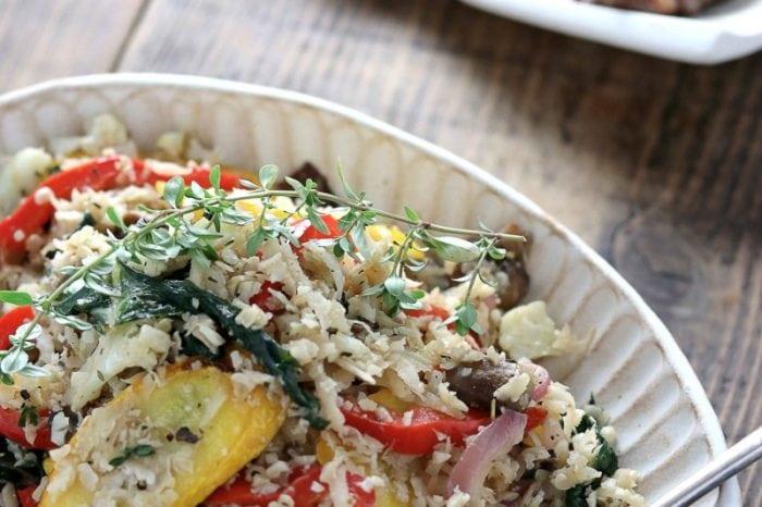 野菜たっぷり彩りカリフラワーライス
