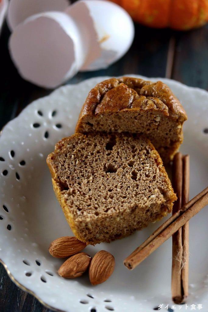 かぼちゃマフィン・うちのダイエット食事・アーモンドとシナモンたっぷりのかぼちゃマフィンのレシピ