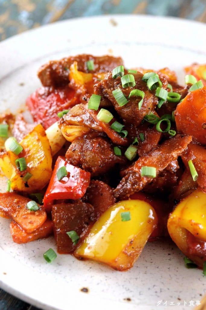 美味しい酢豚の作り方・簡単で揚げない酢豚!・うちのダイエット食事・酢豚のレシピ・プロの酢豚の写真