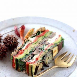 焼き野菜のテリーヌ・うちのダイエット食事・テリーヌの作り方は簡単です。