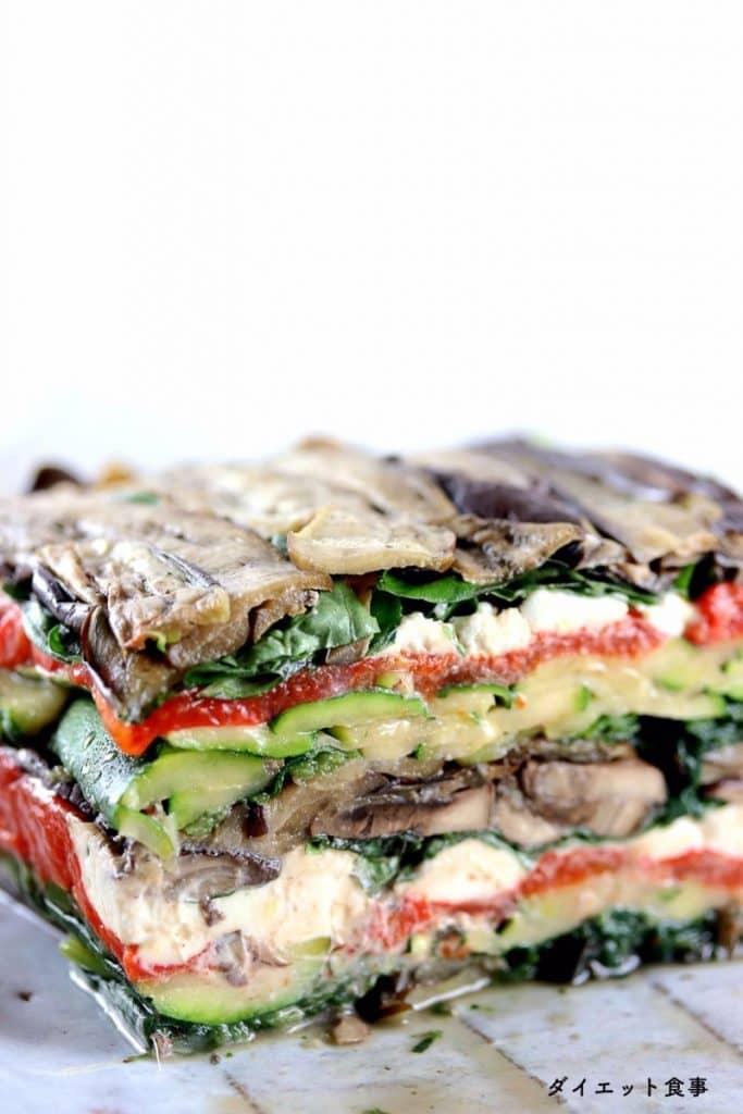 焼き野菜のテリーヌ・うちのダイエット食事・テリーヌのレシピ。