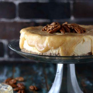 糖質制限キャラメルチーズケーキ