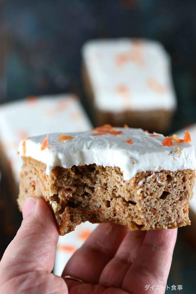キャロットケーキのレシピ・うちのダイエット食事・人参を使ってスイーツを作る。