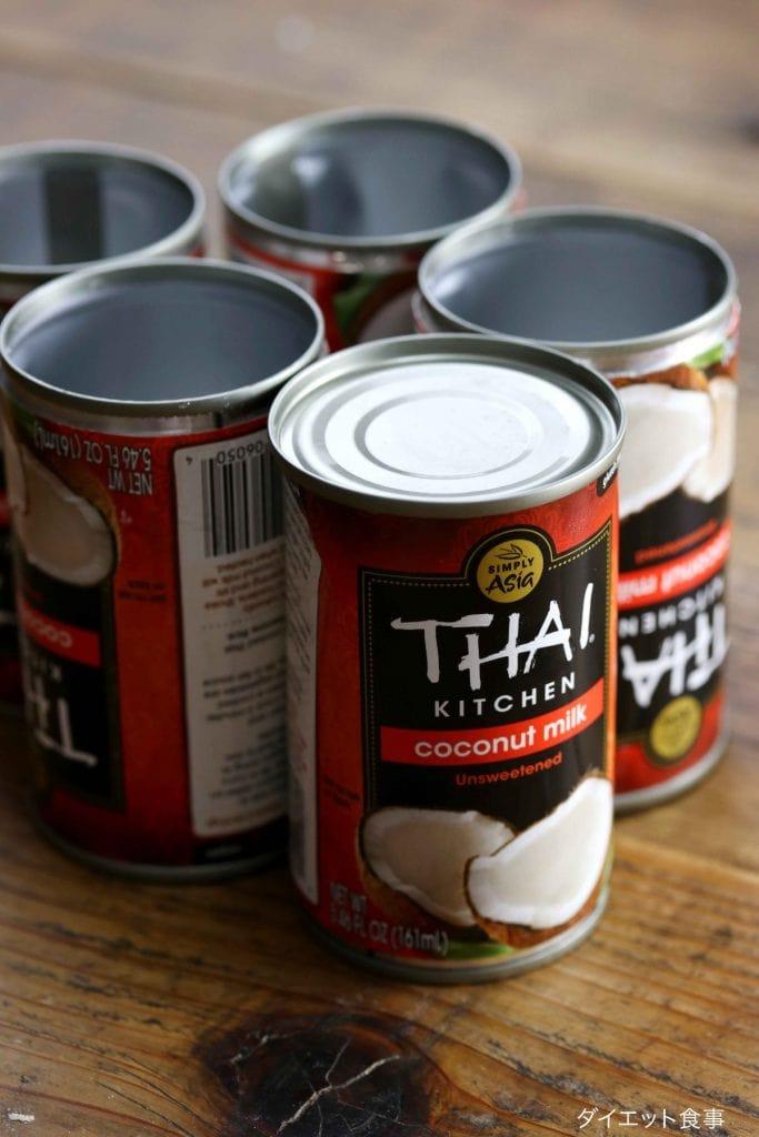 ココナッツミルクのホイップ・うちのダイエット食事・Thai Kitchenのココナッツミルクで作るホイップクリーム