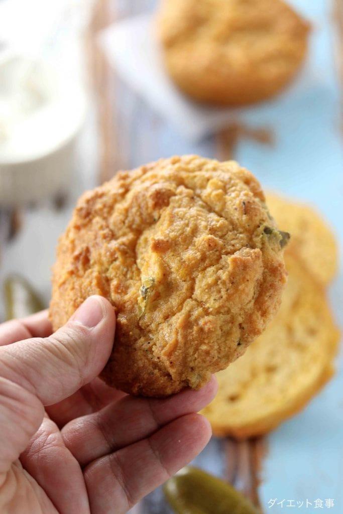 もちもちチーズパン・うちのダイエット食事・グルテンフリーパンのレシピはチェダーチーズ入りです。
