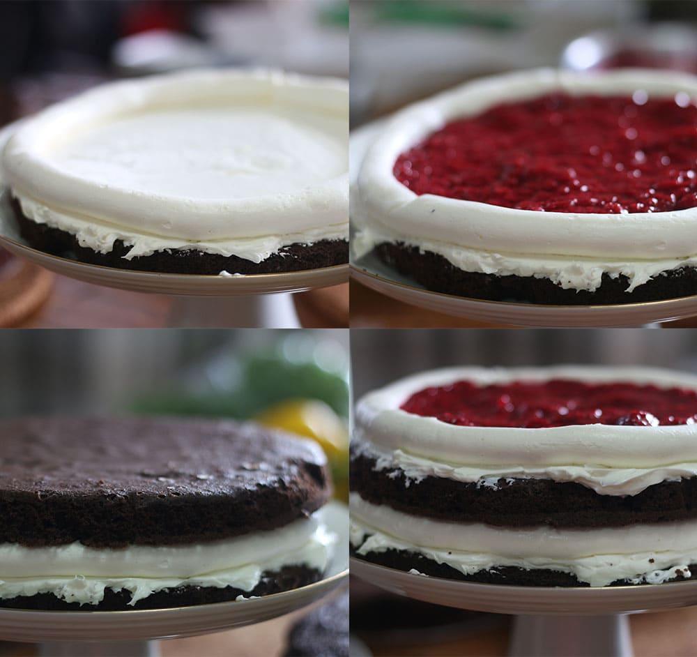 ブラックフォレストケーキの作り方の写真です。